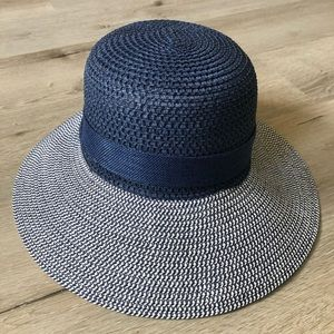 Accessories - Navy blue sun hat with bow